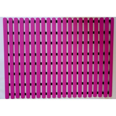 Long durability floor mat 80cm x 60cm - pink