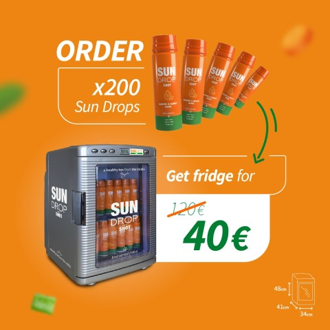 Special deal: x200 Sun Drop + fridge