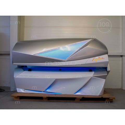 Sunbed Ergoline Evolution 660 Smart Power White - Silver