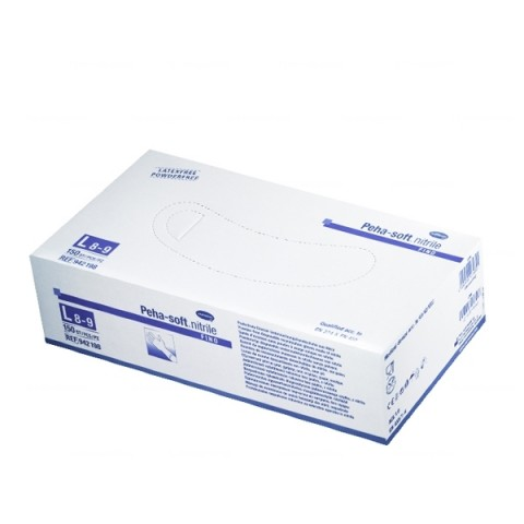Peha-soft nitrile gloves 100 pcs. Size L.