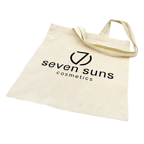 Cotton, eco-friendly bag with a 7suns print