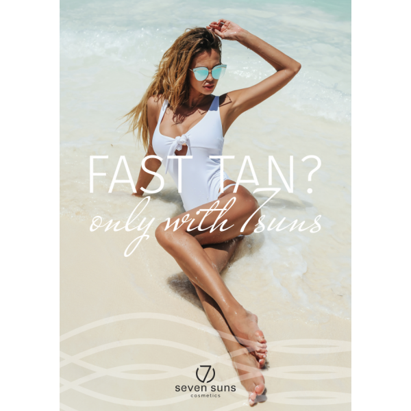 Poster Fast Tan only with 7suns B1