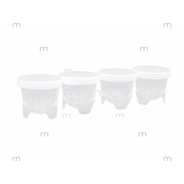 Lotion portioning cups in set with lids - 100 pcs.