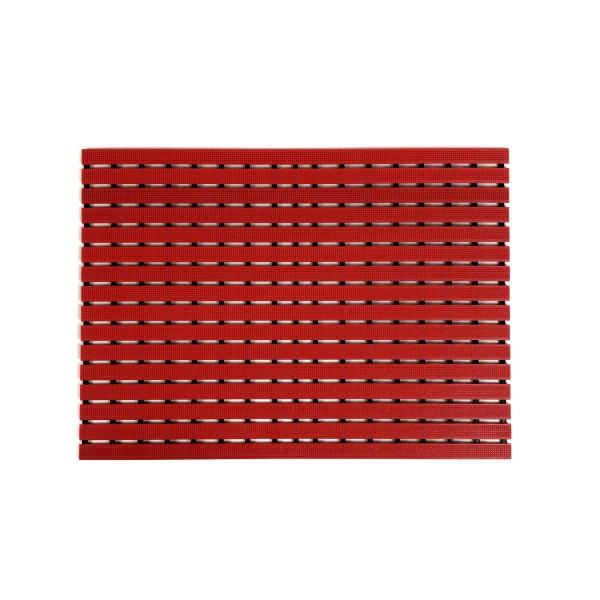 Long durability floor mat - red