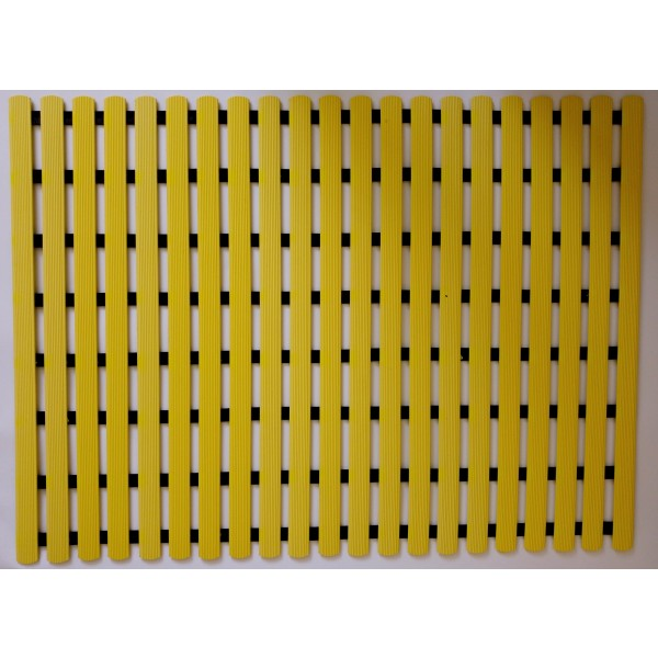 Long durability floor mat 80cm x 60cm - yellow
