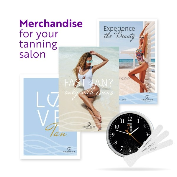 Merchandise for your tanning salon