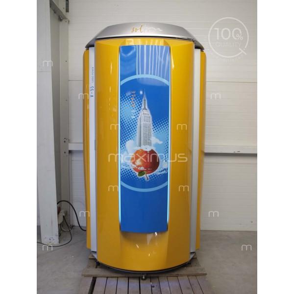 Vertical solarium Soltron V-55 Turbo Power Big Apple, Vibra Floor