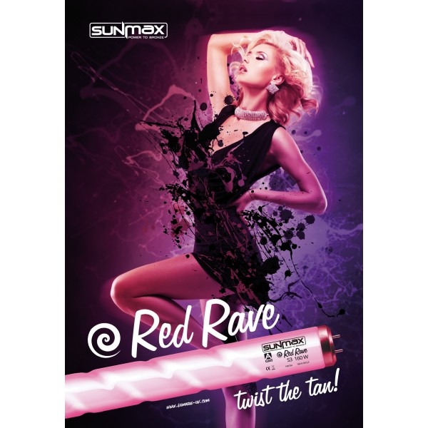 "Poster Sunmax RED RAVE ""Twist the Tan"" A3"