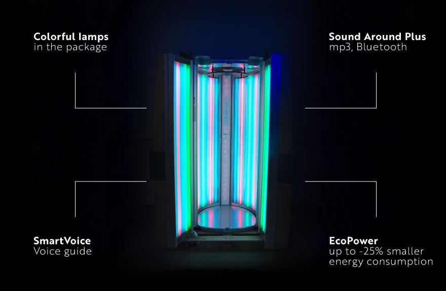 Standing solarium Luxura V6 44 XL Balance